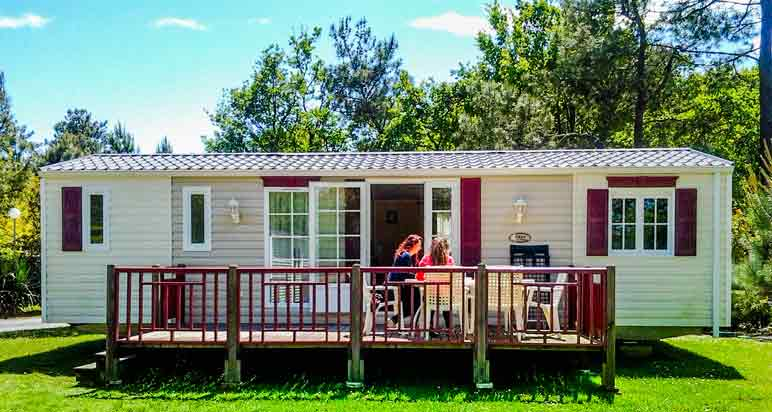 Location mobile-home camping Gironde